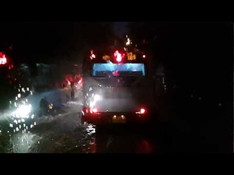 Bus driving trough Beijing floods July 21st 2012