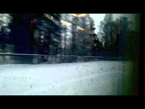 Cold Finland from inside a warm train